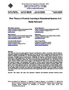 Flow Theory to Promote Learning in Educational