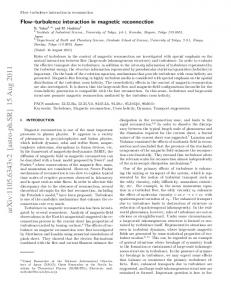 Flow-turbulence interaction in magnetic reconnection