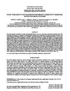 Flow variability and macroinvertebrate ... - Wiley Online Library
