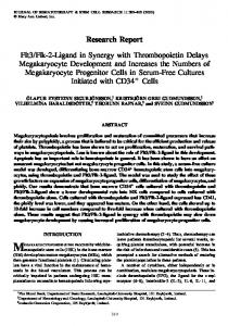 Flt3/Flk-2-Ligand in Synergy with Thrombopoietin Delays ...