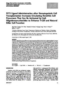 FLT3 Ligand Administration after Hematopoietic Cell ... - Core