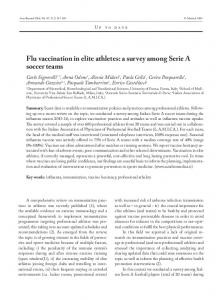 Flu vaccination in elite athletes: a survey among Serie ...