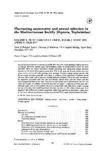 Fluctuating asymmetry and sexual selection in the ... - Oxford Journals