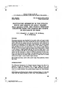FLUCTUATING ASYMMETRY IN THE OTOLITH WIDTH AND LENGTH ...