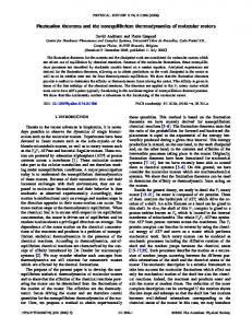 Fluctuation theorems and the nonequilibrium thermodynamics of ...