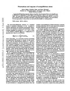 Fluctuations and response of nonequilibrium states