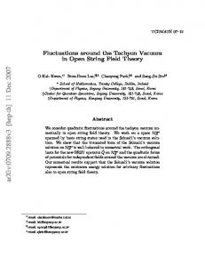 Fluctuations around the Tachyon Vacuum in Open String Field Theory