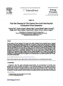 Flue gas cleaning for CO2 capture from coal-fired ... - ScienceDirect