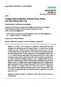 Fluidized-Bed Gasification of Plastic Waste, Wood, and Their ... - MDPI