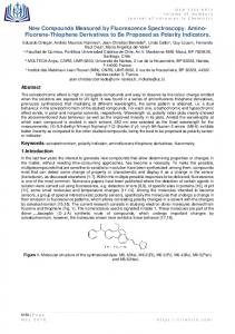 Fluorene-Thiophene Derivatives to Be Proposed as ...
