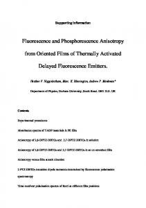 Fluorescence and Phosphorescence Anisotropy from