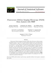 Fluorescence Lifetime Imaging Microscopy (FLIM) Data Analysis with ...