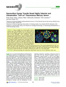Fluorescence Mercury Sensor - ACS Publications - American ...