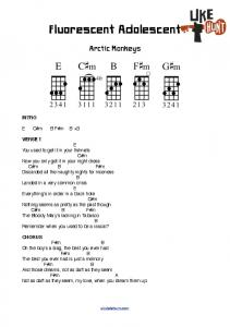 Fluorescent Adolescent (Chords)