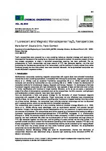 Fluorescent and Magnetic Monodisperse Fe3O4 Nanoparticles - aidic