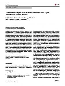 Fluorescent Properties of 8-Substituted BODIPY Dyes