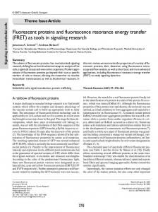 Fluorescent proteins and fluorescence resonance energy transfer ...