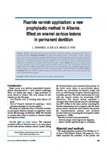 Fluoride varnish application: a new prophylactic method in Albania ...
