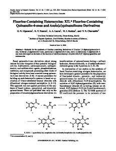 Fluorine-Containing Heterocycles: XII. Fluorine ... - Springer Link