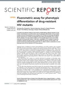 Fluorometric assay for phenotypic differentiation of ...