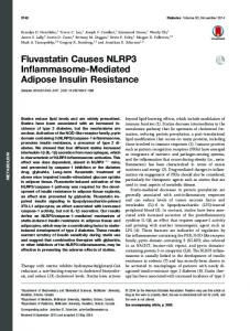 Fluvastatin Causes NLRP3 Inflammasome-Mediated ... - Diabetes