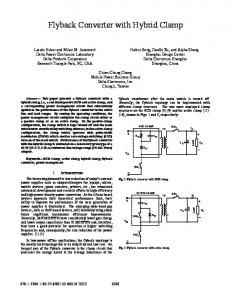 Flyback Converter with Hybrid Clamp