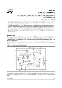 Flyback converters with the L6561 PFC controller - STMicroelectronics