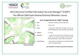 Flyer - Information Systems Audit and Control Association