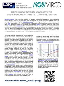 flyer - LIGO Scientific Collaboration