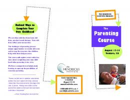 Flyer - The Parenting Course - The Hendricks Institute