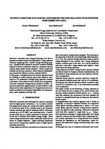 FLYING CAPACITOR MULTILEVEL CONVERTER ... - Semantic Scholar