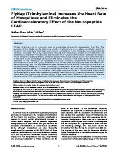 FlyNap (Triethylamine) Increases the Heart Rate of ... - Semantic Scholar
