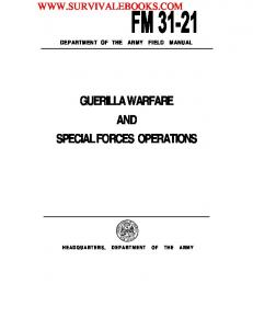 FM-31-21 1961 Guerilla Warfare and Special Forces Operations