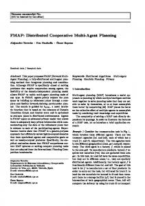 FMAP: Distributed Cooperative Multi-Agent Planning - UPV