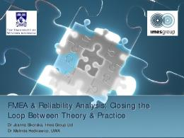 FMEA & Reliability Analysis: Closing the Loop ...