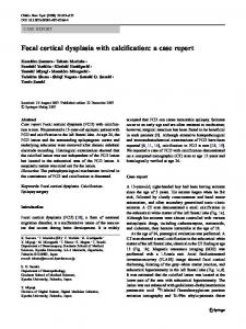 Focal cortical dysplasia with calcification: a case report - Springer Link