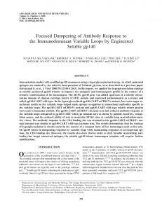 Focused Dampening of Antibody Response to the ... - Semantic Scholar