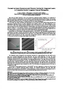Focused-ion-beam Nanostructured Photonic ... - OSA Publishing
