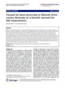 Focused ion beam processing to fabricate ohmic contact electrodes on ...