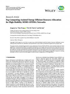 Fog Computing-Assisted Energy-Efficient Resource Allocation for High