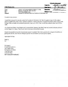 FOIA/PA-2010-0298 - Timex, Corp., 20650 Valley Green ... - NRC