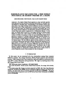 FOKKER-PLANCK EQUATIONS FOR A FREE ENERGY ...