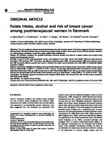 Folate intake, alcohol and risk of breast cancer among ... - Nature