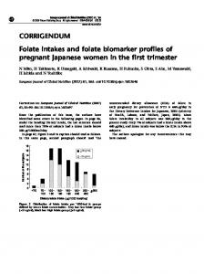 Folate intakes and folate biomarker profiles of pregnant ... - Nature