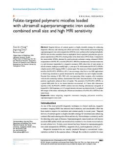 Folate-targeted polymeric micelles loaded with