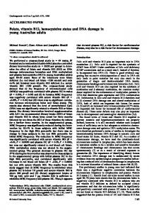 Folate, vitamin B12, homocysteine status and DNA ... - CiteSeerX