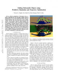 Folding Deformable Objects using Predictive Simulation and ...