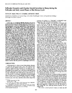 Follicular Dynamics and Ovarian Steroid Secretion in Sheep during ...