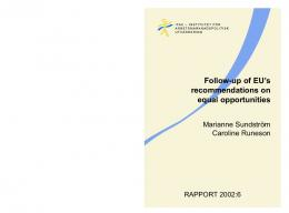 Follow-up of EU's recommendations on equal opportunities - IFAU