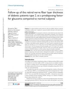 Follow-up of the retinal nerve fiber layer thickness of